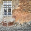 Dilapidated wall and window - Stock Photo