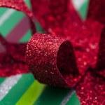 Close up shot of shiny red ribbon — Stock Photo #18819221