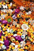 Visa av färgglada godis — Stockfoto