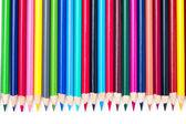 Vedle sebe barevné tužky pastelky — Stock fotografie