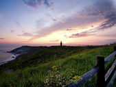 Lighthouse during sunset — Stock Photo