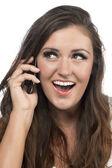 Attractive female on phone — Stock Photo
