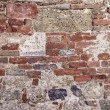 27 old tuscan stone wall — Stock Photo