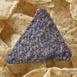 Stock Photo: Crunchy nachos top with blue tortilla