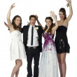 Happy teenagers at the prom - Stock Photo