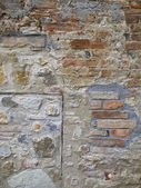 Ancient brick wall — Stock fotografie