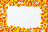 Image of arranged candy corns — Stock Photo
