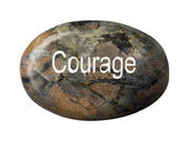 Courage word inscribed on soap — Stock Photo