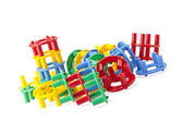 Pile of round building toys — Stock Photo