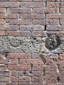 Vertical image of a brick wall — Stock Photo
