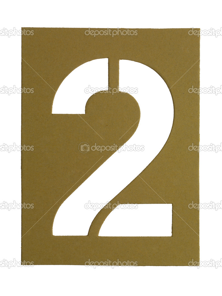 Close-up image of a cardboard with cut out number 2 — Stock Photo #18822127