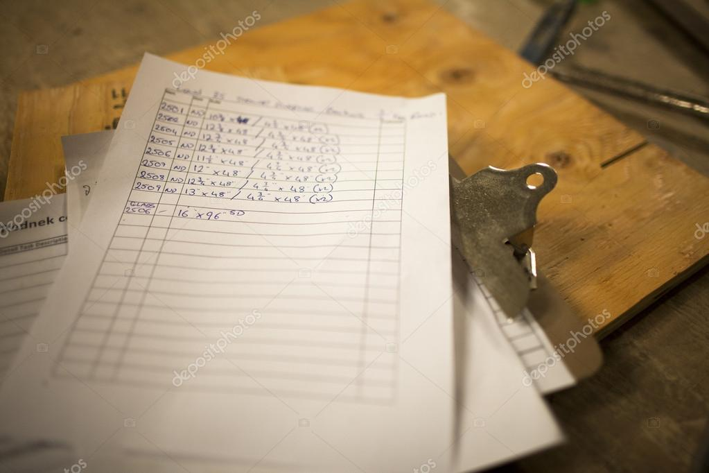 Close-up shot of a paper on clipboard. — Stock Photo #18823015
