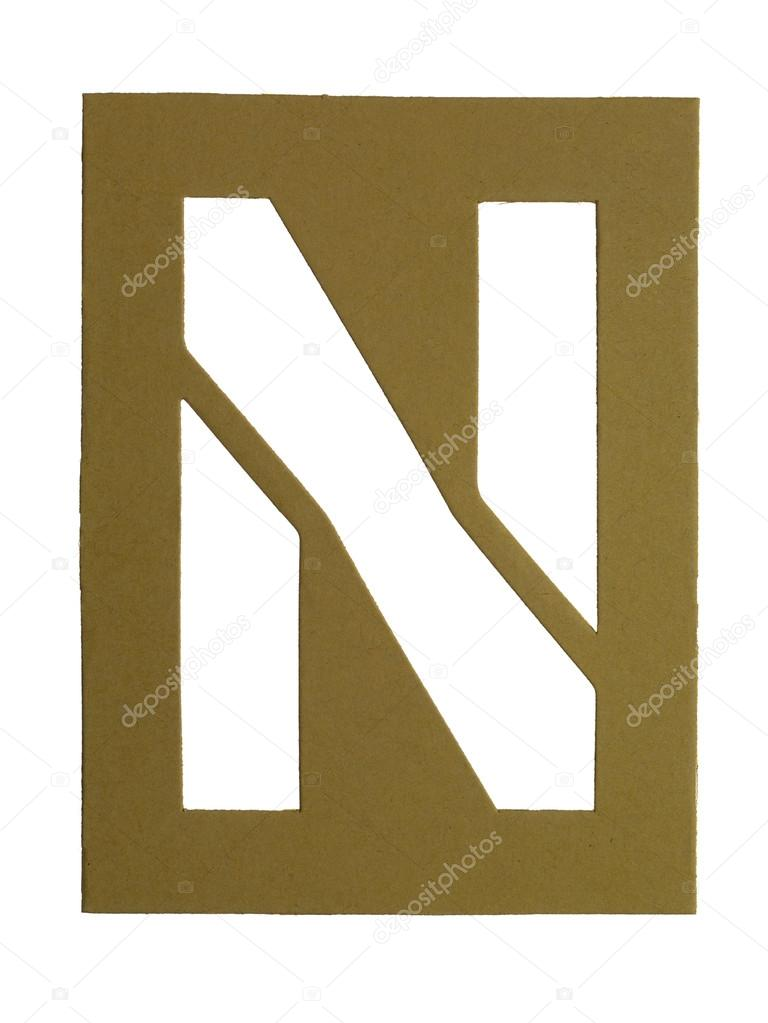 Close-up image of a cardboard with cut out letter N — Stock Photo #18823441