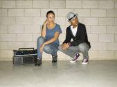 Para hip-hopu — Zdjęcie stockowe