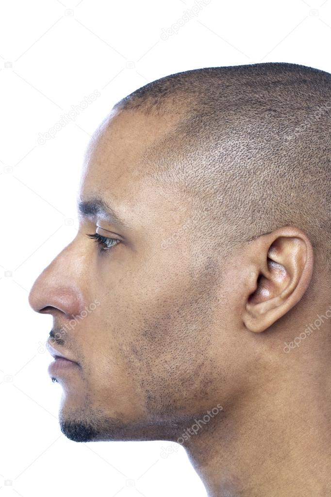 Side view image of a mans face — Stock Photo © kozzi2 ...