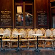 Cafe tables and chairs - Stock Photo