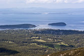 Elevated view from cadillac mountain acadia national parkmaine — Stock Photo