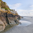Mont Saint Michel Ebbe — Stockfoto