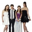 Beautiful teenagers and handsome man - Stock Photo