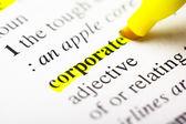 Corporate highlight — Stock Photo
