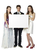Beautiful and handsome teenagers — Stock Photo