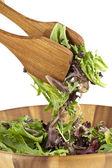 Mieszanie zielona sałatka — Zdjęcie stockowe