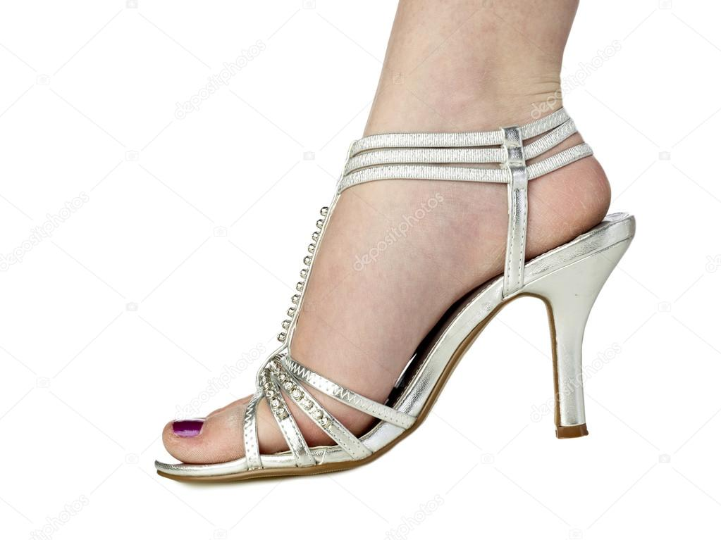 Feet i silver sandals mules heels pies sexys en tacones - 3 1