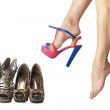 Stock Photo: Shoes collection