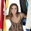Woman in closet - Stock Photo