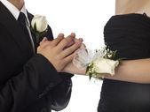 Sweet couple hand — Stock Photo