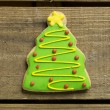 Christmas tree cookie — Stock Photo