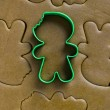 Cookie cutter on dough — Stock Photo #19343837