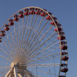 Low angle view of ferris wheel against blue sky — Stock Photo #19345657