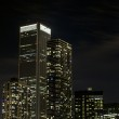 Tall buildings at night in chicago downtown — Stock Photo #19349809