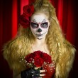 Theatrical sugar skull — Stock Photo #19349859