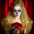 Theatrical sugar skull — Stock Photo