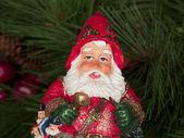A happy santa clause figurine — Stock Photo