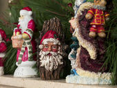 Collection of santa clause decorations — Stock Photo