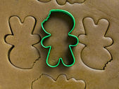 Cookie cutter on dough — Stock Photo