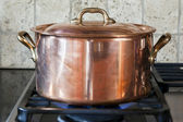 Copper pan — Stock Photo