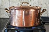 Copper pan — Stock Photo