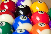 Cropped image of pool balls — Stock Photo
