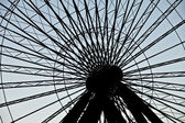 Cropped image of ferris wheel at chicagos navy pier — Stock Photo
