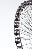 Cropped image of ferris wheel against clear sky at chicagos navy — Stock Photo