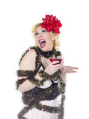 Ecstatic holiday woman — Stock Photo