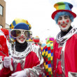 View of man and woman in clowns costume and face paint — Stock Photo #19350339