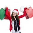 Beautiful young female with shopping bags — Stock Photo #19433499