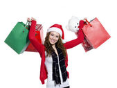 Beautiful young female with shopping bags — Stock Photo
