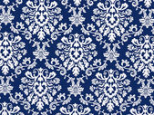 Blue vintage wallpaper — Stockfoto
