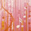 Pink musical abstract wallpaper — Stock Photo #19448069